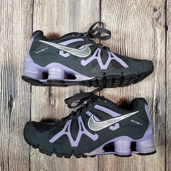 check out 3e1e0 daa02 Nike Shox Turbo 13 purple black size 6.5 womens
